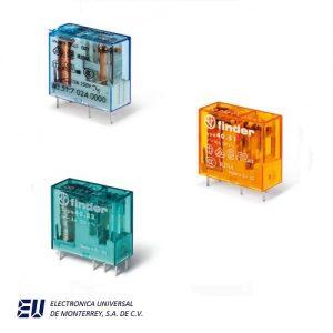 Serie 40 - Mini-relé para circuito impreso enchufable 8 - 10 - 12 - 16 A