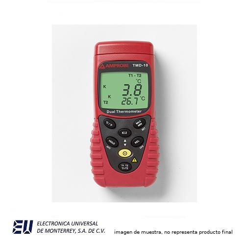 Termometro De Dos Canales Termopar Tipo J Amrpobe Tmd 10 Electronica Universal De Monterrey Termômetros infravermelhos e termômetros a laser. termometro de dos canales termopar tipo j amrpobe tmd 10